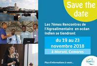SAVE THE DATE : les 7èmes Rencontres de l'Agroalimentaire 2018 aux Comores